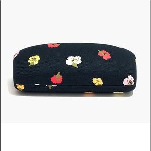 NWOT Madewell Confetti Floral Sunglass Case
